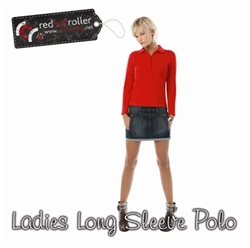 Picture of Ladies Long Sleeve Polo Shirt