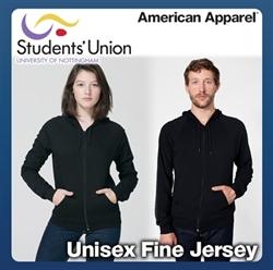 Picture of Unisex Fine Jersey Zip Hoody