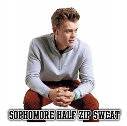 Picture of JH046 - Sophomore Half Zip Sweatshirt