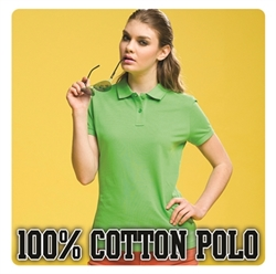 Picture of Ladies 100% Cotton Polo